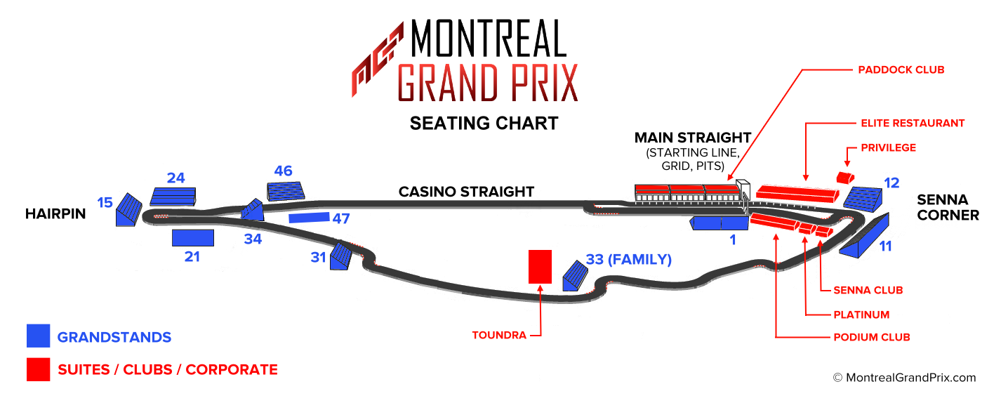 Montreal Grand Prix seating chart